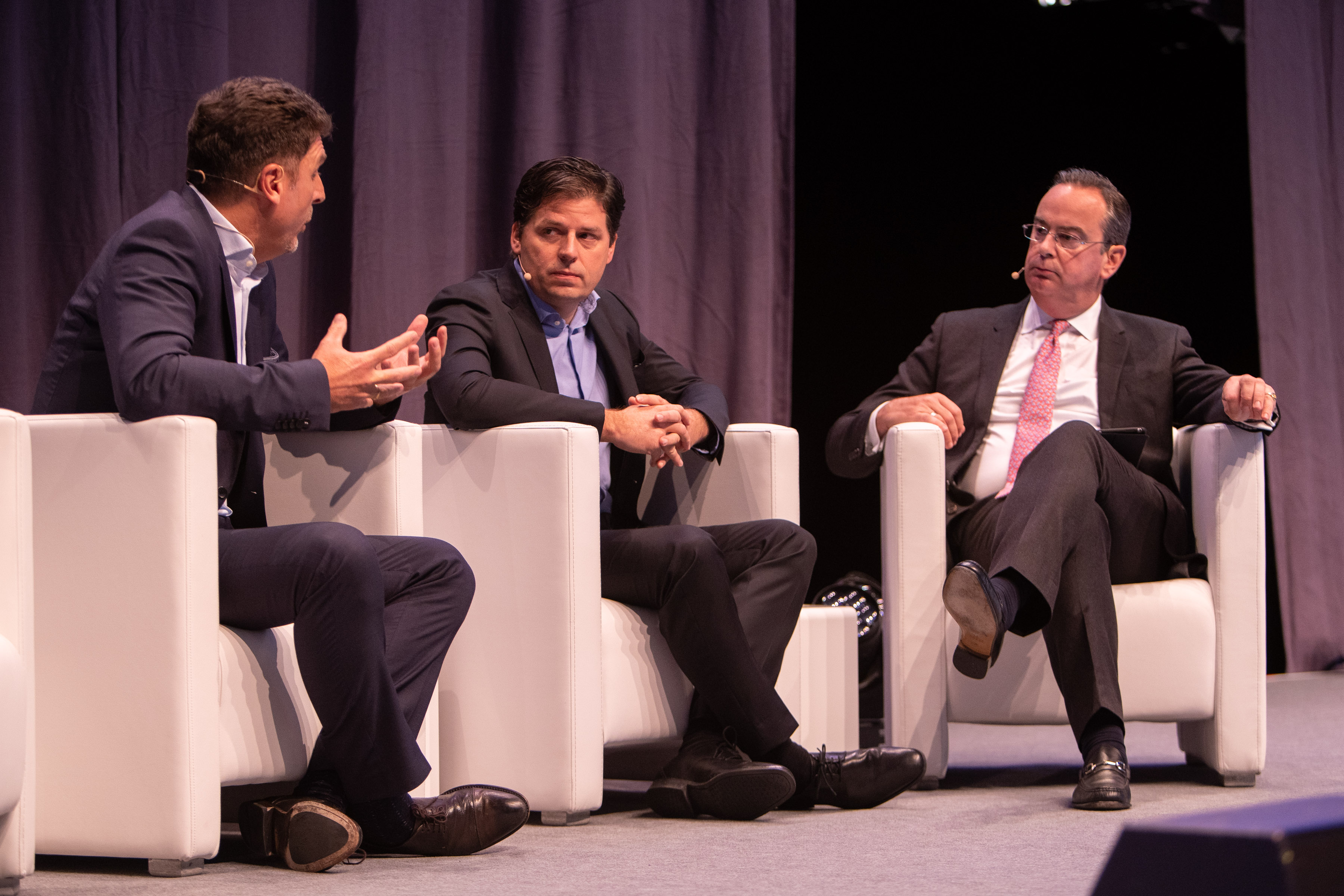 Richard moderating at the Global Business Travel Association Conference in Munich in November 2019