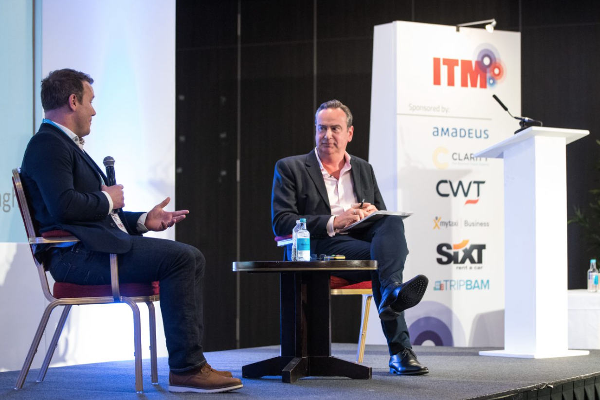 Richard moderating at the Institute of Travel Management Conference Brighton in May 2019